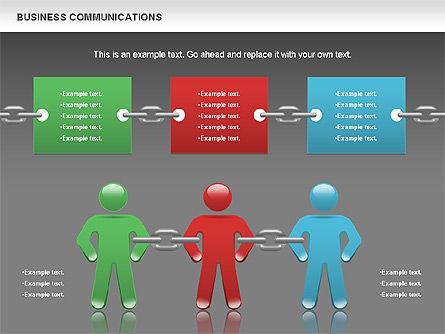 Communication Chain, Slide 16, 00871, Business Models — PoweredTemplate.com