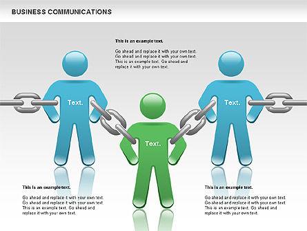 Communication Chain, Slide 2, 00871, Business Models — PoweredTemplate.com