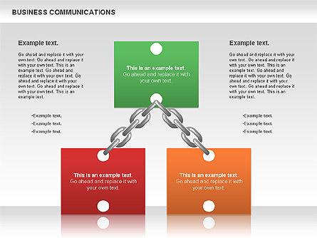 Communication Chain, Slide 7, 00871, Business Models — PoweredTemplate.com