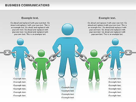 Communication Chain, Slide 8, 00871, Business Models — PoweredTemplate.com