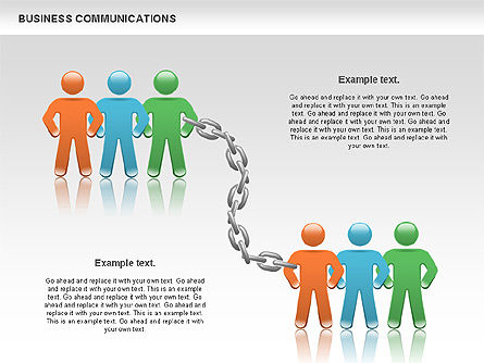Communication Chain, Slide 9, 00871, Business Models — PoweredTemplate.com