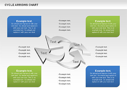Shapes: Circle Arrows Chart #00872