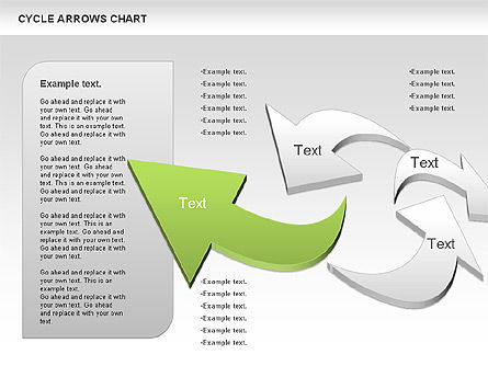 Circle Arrows Chart, Slide 2, 00872, Shapes — PoweredTemplate.com