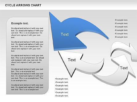 Circle Arrows Chart, Slide 3, 00872, Shapes — PoweredTemplate.com