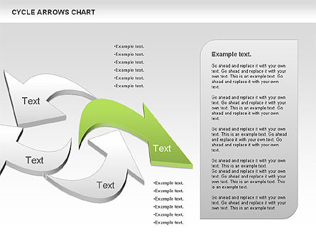 Circle Arrows Chart, Slide 4, 00872, Shapes — PoweredTemplate.com