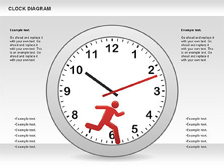 Clock Face Diagram, 00873, Timelines & Calendars — PoweredTemplate.com