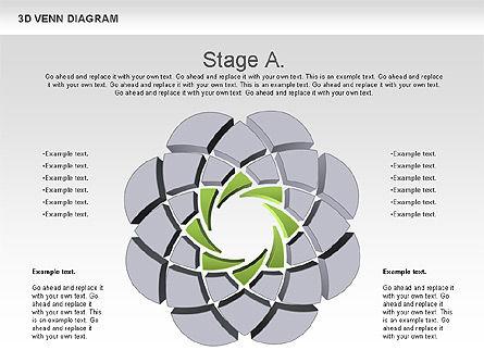 3D Venn Diagram, Slide 2, 00874, Business Models — PoweredTemplate.com