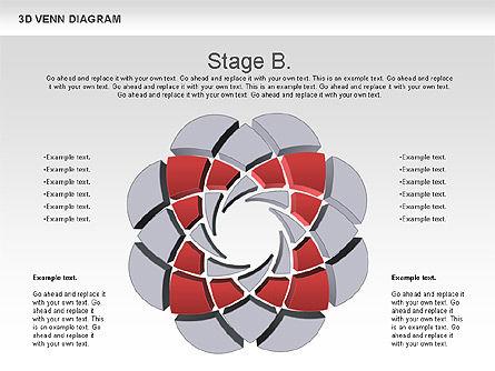 3D Venn Diagram, Slide 3, 00874, Business Models — PoweredTemplate.com