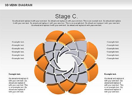 3D Venn Diagram, Slide 4, 00874, Business Models — PoweredTemplate.com