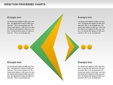 Direction Processes Chart, Slide 10, 00875, Process Diagrams — PoweredTemplate.com