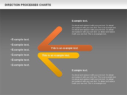 Direction Processes Chart, Slide 12, 00875, Process Diagrams — PoweredTemplate.com