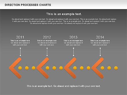 Direction Processes Chart, Slide 14, 00875, Process Diagrams — PoweredTemplate.com
