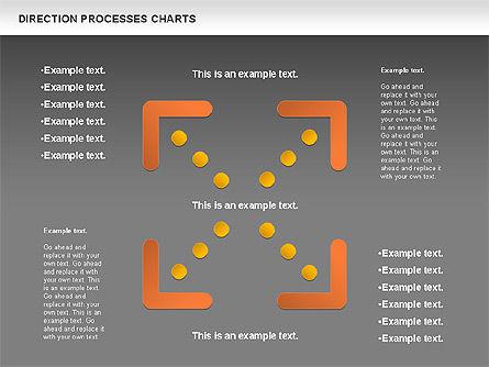 Direction Processes Chart, Slide 16, 00875, Process Diagrams — PoweredTemplate.com