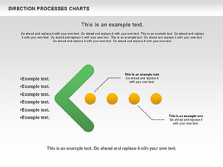 Direction Processes Chart, Slide 2, 00875, Process Diagrams — PoweredTemplate.com