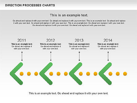 Direction Processes Chart, Slide 3, 00875, Process Diagrams — PoweredTemplate.com