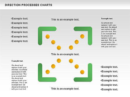 Direction Processes Chart, Slide 5, 00875, Process Diagrams — PoweredTemplate.com
