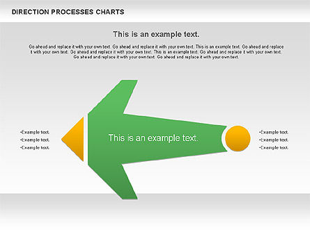 Direction Processes Chart, Slide 6, 00875, Process Diagrams — PoweredTemplate.com