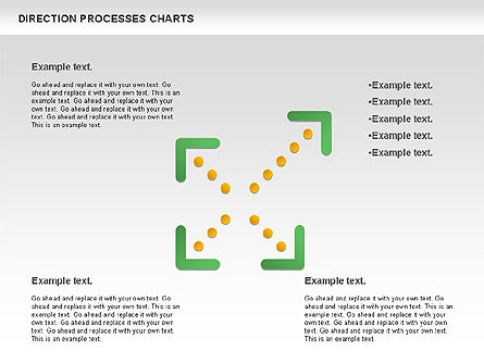 Direction Processes Chart, Slide 7, 00875, Process Diagrams — PoweredTemplate.com