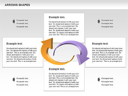 Arrows Shapes Collection, Slide 10, 00876, Shapes — PoweredTemplate.com