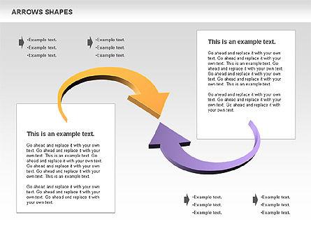 Arrows Shapes Collection, Slide 11, 00876, Shapes — PoweredTemplate.com