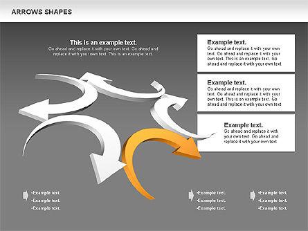Arrows Shapes Collection, Slide 13, 00876, Shapes — PoweredTemplate.com