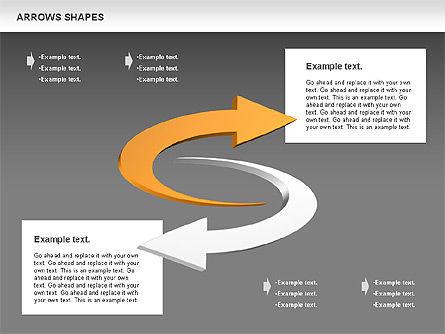 Arrows Shapes Collection, Slide 14, 00876, Shapes — PoweredTemplate.com