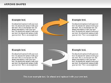 Arrows Shapes Collection, Slide 15, 00876, Shapes — PoweredTemplate.com