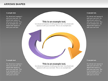 Arrows Shapes Collection, Slide 16, 00876, Shapes — PoweredTemplate.com