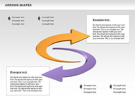 Arrows Shapes Collection, Slide 5, 00876, Shapes — PoweredTemplate.com