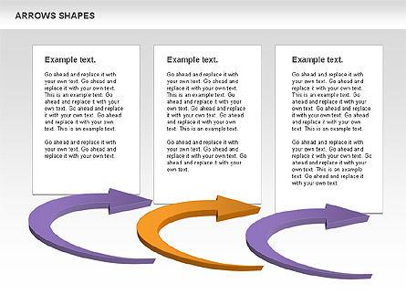 Arrows Shapes Collection, Slide 6, 00876, Shapes — PoweredTemplate.com