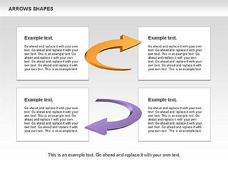 Arrows Shapes Collection, Slide 7, 00876, Shapes — PoweredTemplate.com