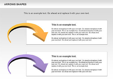 Arrows Shapes Collection, Slide 8, 00876, Shapes — PoweredTemplate.com