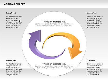 Arrows Shapes Collection, Slide 9, 00876, Shapes — PoweredTemplate.com