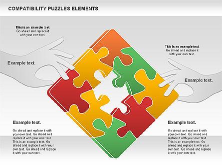 Compatibility Puzzle Chart, Slide 10, 00879, Puzzle Diagrams — PoweredTemplate.com
