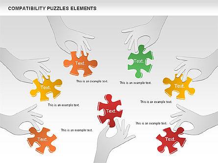 Compatibility Puzzle Chart, Slide 11, 00879, Puzzle Diagrams — PoweredTemplate.com