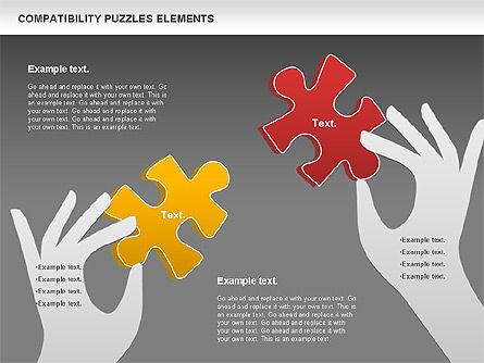 Compatibility Puzzle Chart, Slide 12, 00879, Puzzle Diagrams — PoweredTemplate.com