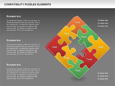 Compatibility Puzzle Chart, Slide 13, 00879, Puzzle Diagrams — PoweredTemplate.com