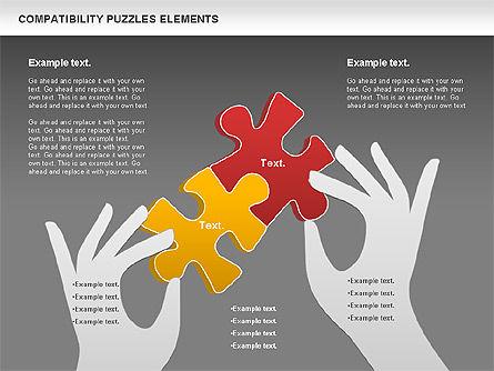 Compatibility Puzzle Chart, Slide 14, 00879, Puzzle Diagrams — PoweredTemplate.com