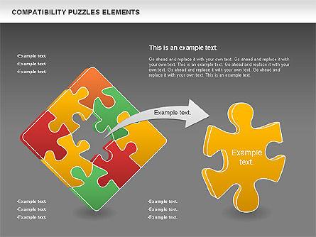 Compatibility Puzzle Chart, Slide 15, 00879, Puzzle Diagrams — PoweredTemplate.com