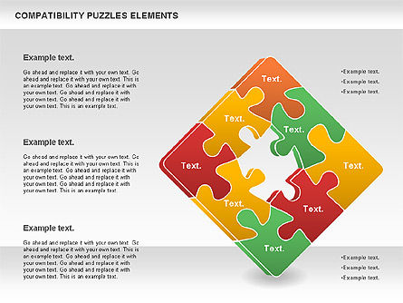Compatibility Puzzle Chart, Slide 2, 00879, Puzzle Diagrams — PoweredTemplate.com