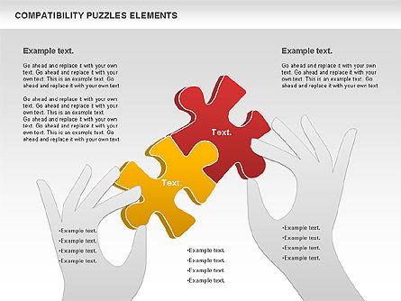 Compatibility Puzzle Chart, Slide 3, 00879, Puzzle Diagrams — PoweredTemplate.com