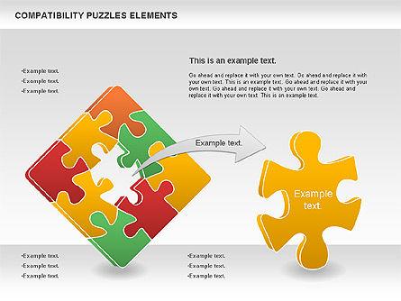 Compatibility Puzzle Chart, Slide 4, 00879, Puzzle Diagrams — PoweredTemplate.com