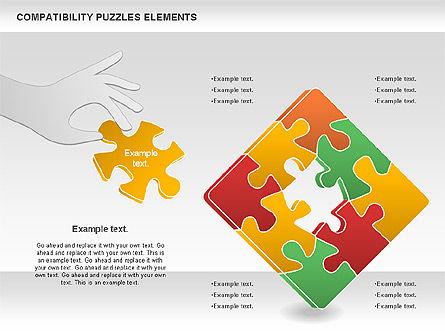 Compatibility Puzzle Chart, Slide 5, 00879, Puzzle Diagrams — PoweredTemplate.com
