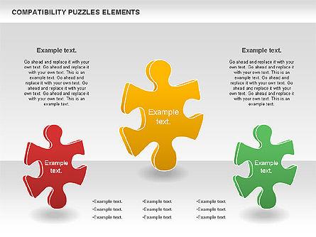 Compatibility Puzzle Chart, Slide 6, 00879, Puzzle Diagrams — PoweredTemplate.com