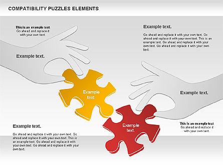 Compatibility Puzzle Chart, Slide 7, 00879, Puzzle Diagrams — PoweredTemplate.com