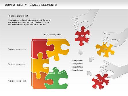 Compatibility Puzzle Chart, Slide 8, 00879, Puzzle Diagrams — PoweredTemplate.com