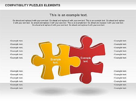 Compatibility Puzzle Chart, Slide 9, 00879, Puzzle Diagrams — PoweredTemplate.com