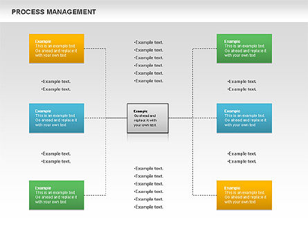 Process Management Diagram, Slide 10, 00880, Process Diagrams — PoweredTemplate.com