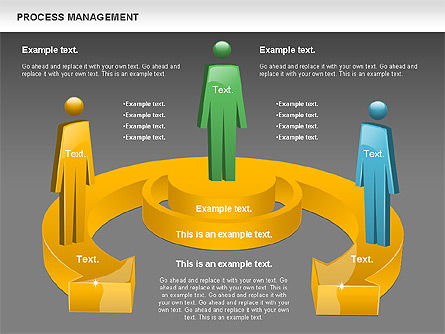 Process Management Diagram, Slide 12, 00880, Process Diagrams — PoweredTemplate.com
