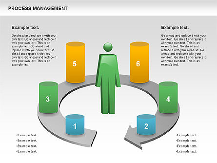 Process Management Diagram For Powerpoint Presentations Download